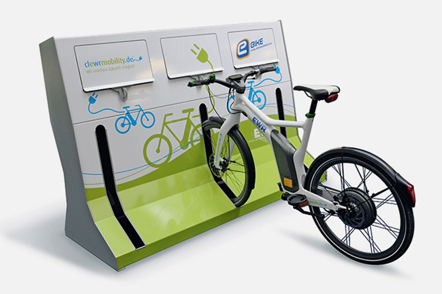Moderne E-Bike Ladestation